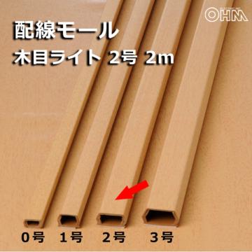 モール 2号 木目ライト 2m×1本 [品番]00-4568
