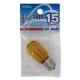 ミシン・冷蔵庫球 T22型 E17/15W イエロー [品番]04-9640