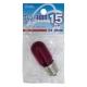 ミシン・冷蔵庫球 T22型 E17/15W レッド [品番]04-9642
