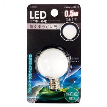 LED電球 装飾用 ミニボール E12 昼白色 [品番]07-6465
