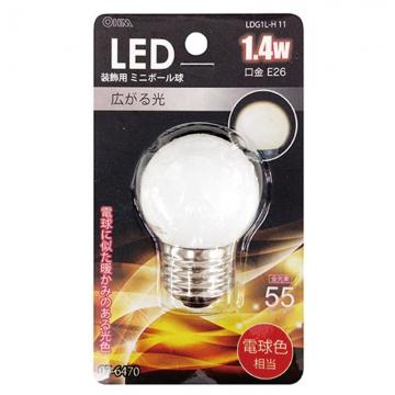 LED電球 装飾用 ミニボール E26 電球色 [品番]07-6470
