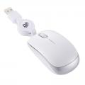 ブルーLED コードリールマウス Sサイズ ホワイト [品番]01-3596