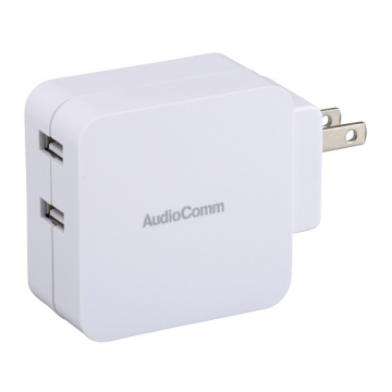 USB ACチャージャー USB2.1AX2 [品番]03-3076