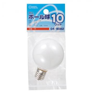 ミニボール球 G30型 E17/10W ホワイト [品番]04-9082
