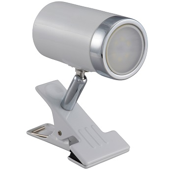 LEDクリップライト 4.2W ホワイト 電球色 [品番]06-1447