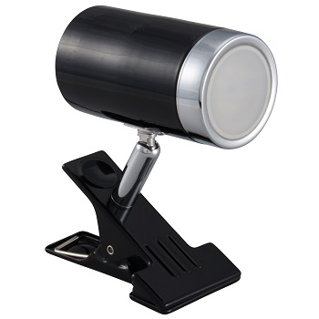 LEDクリップライト 4.2W ブラック 電球色 [品番]06-1449