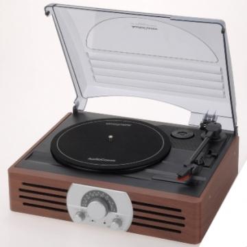 AM・FMラジオ付 レコードプレイヤー [品番]07-2775