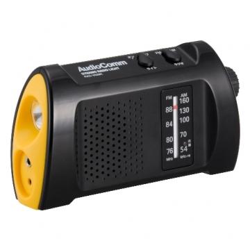 AudioComm 手回しラジオライト V529 [品番]07-3529