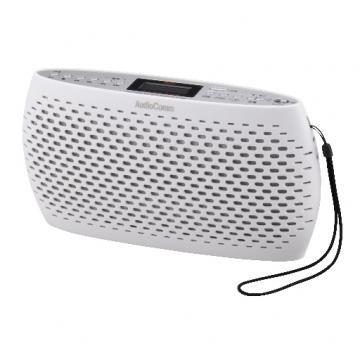 AudioComm ポータブルCD/MP3/ラジオ ホワイト [品番]07-3880
