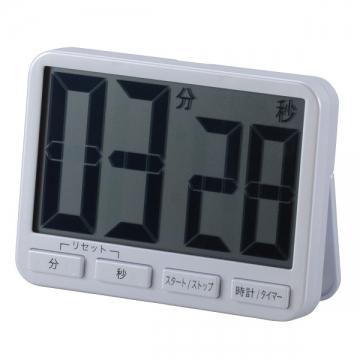 時計付きデジタルタイマー BIG ホワイト [品番]07-4746