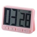 時計付きデジタルタイマー BIG ピンク [品番]07-4891