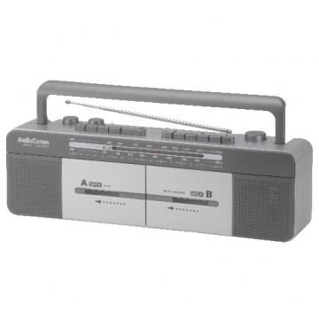 AM/FM ダブルカセットレコーダー [品番]07-6401