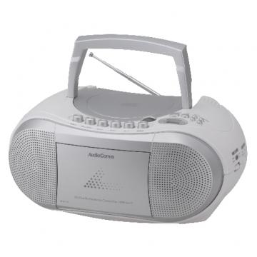 CDラジオカセットレコーダー シルバー [品番]07-6428
