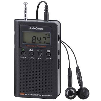 AudioComm デジタル選曲ラジオ ブラック [品番]07-7908