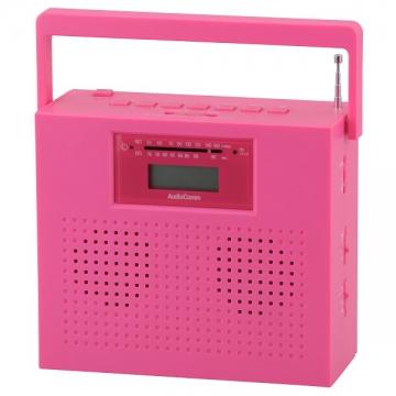 ステレオCDラジオ ピンク [品番]07-7932