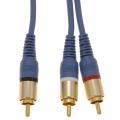 ビデオ接続コード ピンプラグ-ピンプラグ×2 1m [品番]01-2608