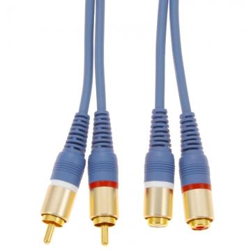 オーディオ延長コード ピンプラグ×2-ピンジャック×2 2m [品番]01-2615
