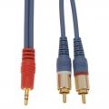 オーディオ接続コード φ3.5ミニプラグ-ピンプラグ 抵抗入 1.5m [品番]01-2620