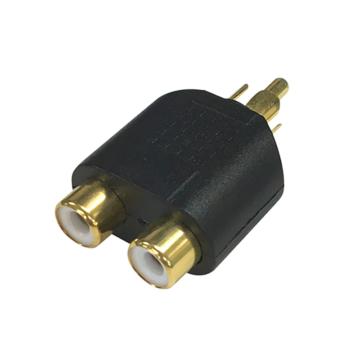 変換アダプター RCAピンジャックx2-RCAピンプラグ [品番]01-2649