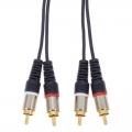 オーディオ接続コード ピンプラグ×2-ピンプラグ×2 1m [品番]01-3077