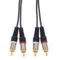 オーディオ接続コード ピンプラグ×2-ピンプラグ×2 2m [品番]01-3078