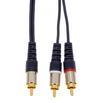 ビデオ接続コード ピンプラグ-ピンプラグ×2 1m [品番]01-3080
