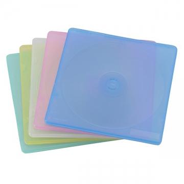 CD&DVDスリムケース 2枚収納 5パック [品番]01-3209