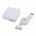 Dock対応 USB伸縮ケーブル&充電セット [品番]01-3241