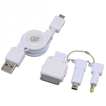 USB伸縮ケーブル スマートフォン用/iPhone/ゲーム機 [品番]01-3250