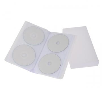 CD/DVDファイルケース 48枚収納 ホワイト [品番]01-3380