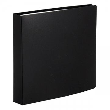 CD/DVDファイルケース ブラック 12枚収納 [品番]01-3488