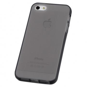 iPhone5用 セミハードケース ブラック [品番]01-3612