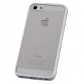 iPhone5用 ハイブリッドケース ホワイト [品番]01-3621