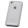 iPhone5用 アルミバンパーケース シルバー [品番]01-3631