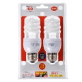 電球形蛍光灯 エコなボール スパイラル形 E26 60形相当 電球色 2個入 [品番]04-9912