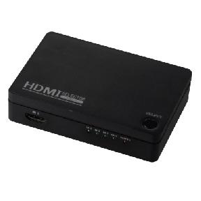 3ポート HDMIセレクター 黒 [品番]05-0309