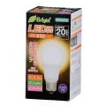 LED電球 20W形相当 E26 電球色 広配光 密閉器具対応 [品番]06-2880