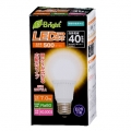 LED電球 40W形相当 E26 電球色 広配光 密閉器具対応 [品番]06-2882