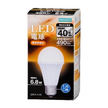 LED電球 40形相当 E26 電球色 密閉器具対応 [品番]06-3091