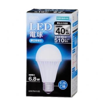 LED電球 40形相当 E26 昼白色 密閉器具対応 [品番]06-3092