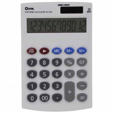 2電源 シンプル電卓 [品番]07-7988