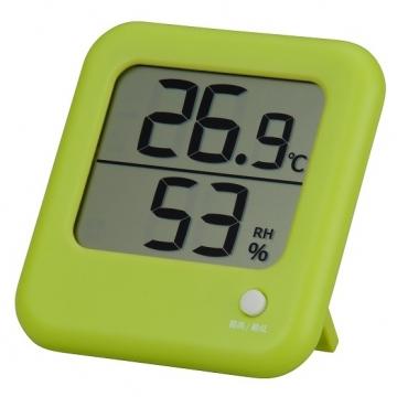 デジタル温湿度計 グリーン [品番]08-0024
