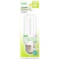 電球形蛍光灯 エコデンキュウ D形 E26 60形相当 昼白色 [品番]04-1300