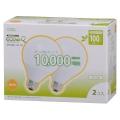 電球形蛍光灯 ボール形 E26 100W相当 電球色 エコデンキュウ 2個入 [品番]04-1370