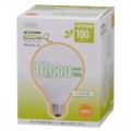電球形蛍光灯 ボール形 E26 100W相当 電球色 エコデンキュウ [品番]04-1444