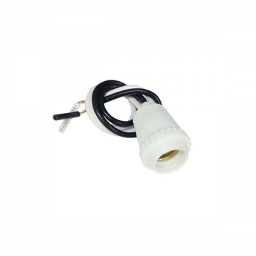プラソケット E12用 白 [品番]04-2201