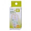 電球形蛍光灯 エコデンキュウ スパイラル形 E26 40形相当 電球色 [品番]04-3123