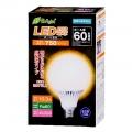 LED電球 ボール電球形 60形相当 E26 電球色 [品番]06-2935
