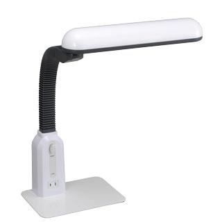 LEDデスクライト コンセント付き L-72 ホワイト [品番]07-1516