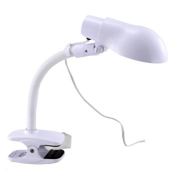 クリップ式 電球形蛍光灯デスクライト ホワイト [品番]07-3698